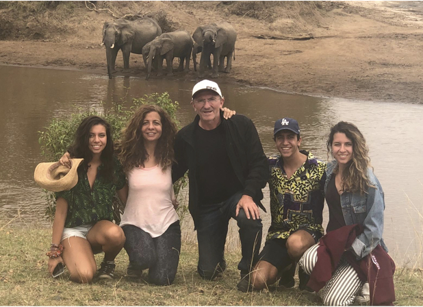 Nicole, Gigi, Alex, Danielle and I volunteering at an elephant sanctuary in Kenya