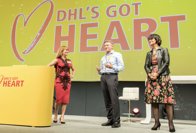 On stage with Regine and Jane Seymour for DHL's Got Heart at the Dubai Conference 2018